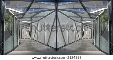 Two hallways - stock photo