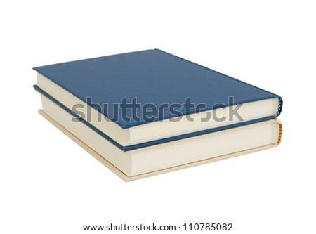 Two hardcover book isolated on white background - stock photo
