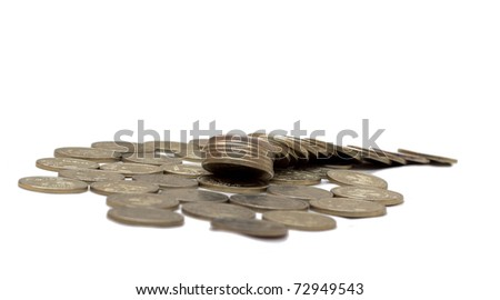 Two heaps of coins aligned and chaotic