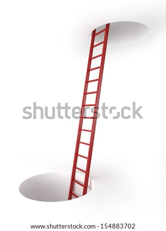 Two holes and ladder
