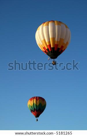 Two hot air balloon - stock photo
