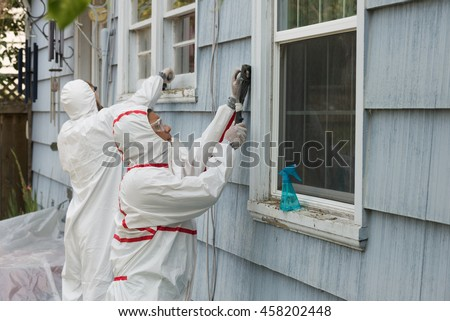 Two House Painters Hazmat Suits Removing Stock Photo 458202448 Shutterstock