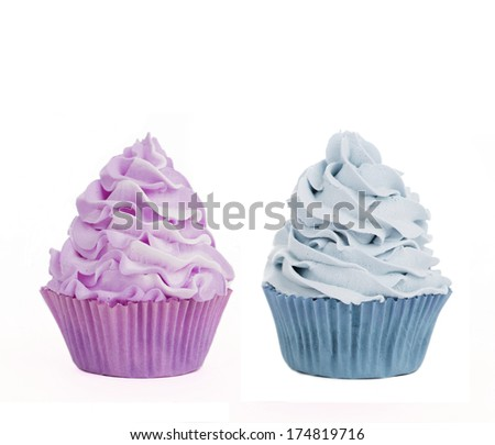Two isolated cupcakes
