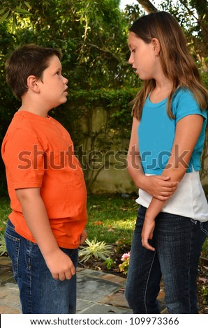Two Children Talking Stock Photos, Royalty-Free Images & Vectors ...