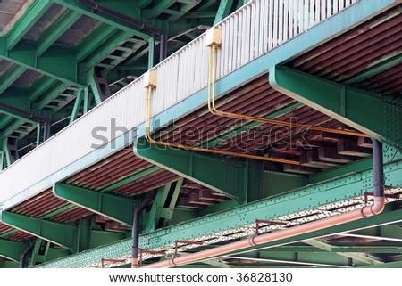 Two levels bridge. - stock photo