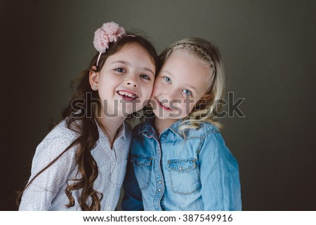 Two little girls best friends