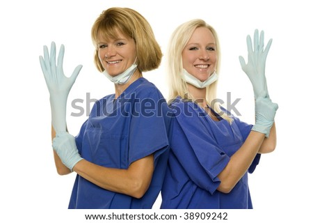 Two lucky doctors - stock photo