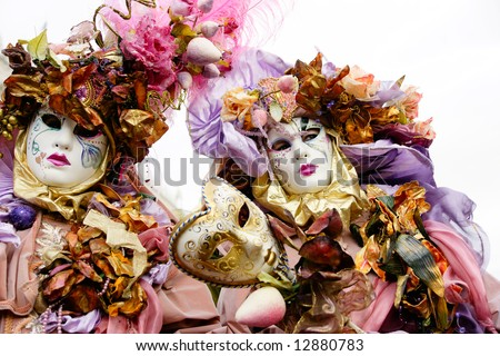Two mask in Venice, Italy. - stock photo