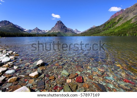 Two medicine lake - stock photo