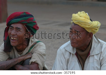 two men from shan state in Myanmar (Burma) - stock photo