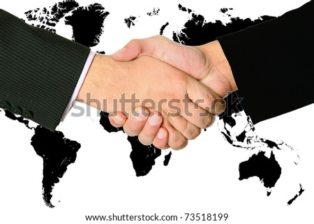 Two men made a deal - stock photo