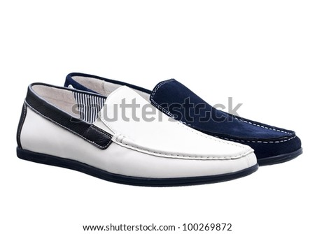 Two men shoes isolated over white, with clipping path