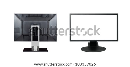 Two monitors isolated - stock photo