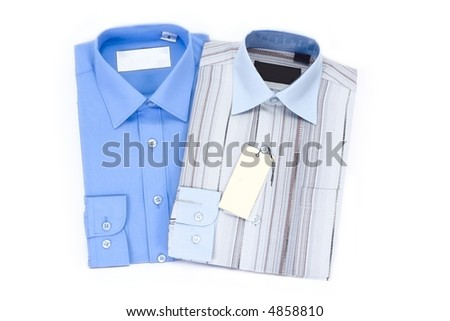 Two new shirts - stock photo