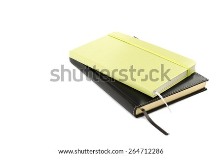 Two notebook on a white background - stock photo