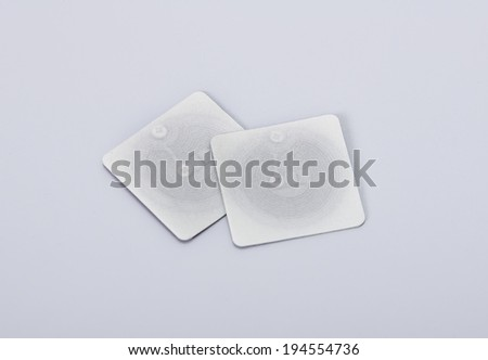 two of rfid tags and transponders - stock photo