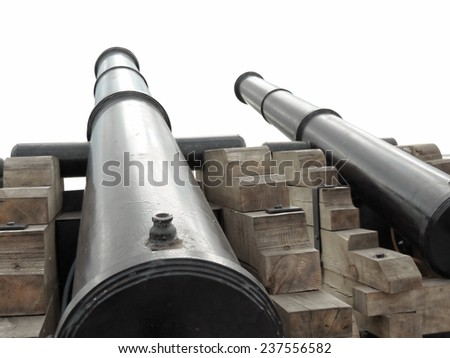 Two old cannons