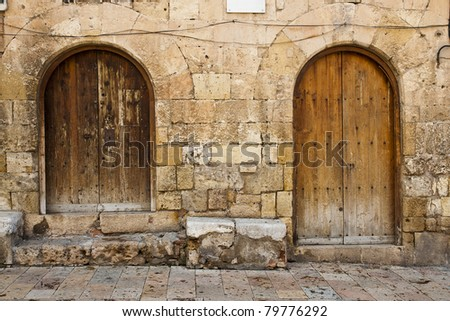 two old wooden doors
