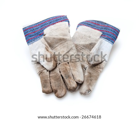 two old work gloves