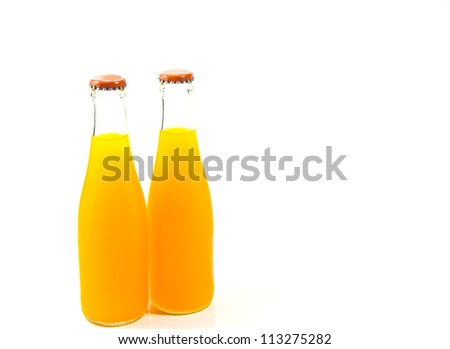 Two Orange Juice Bottles