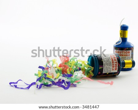 Two party poppers - stock photo