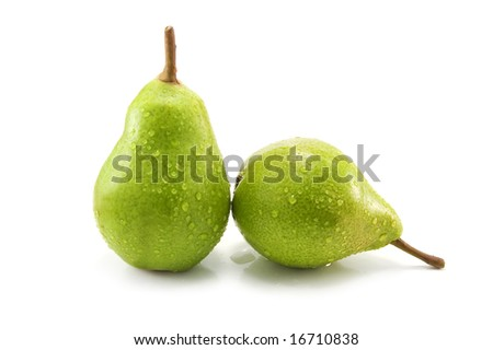 two pear isolated on white background