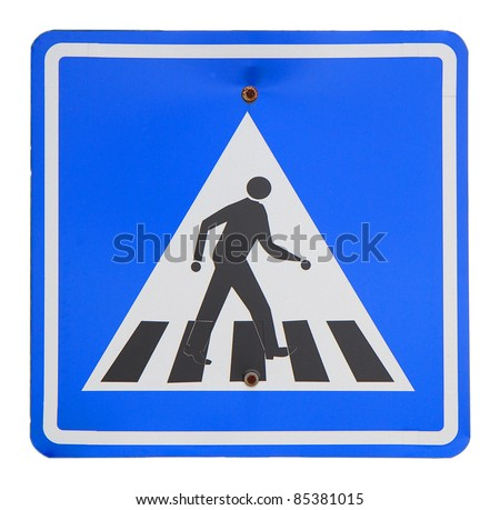 Two pedestrian Sign on a wite background