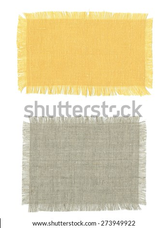 Two pieces of cotton fabric in different colors.  - stock photo