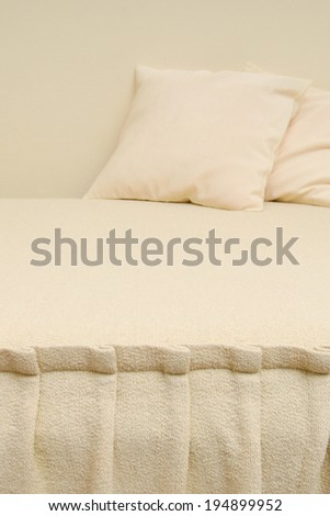 two pillow on hotel bed  - stock photo