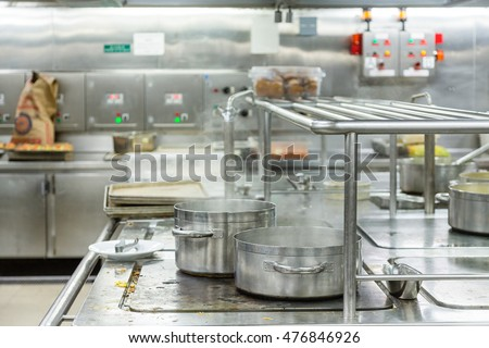 Two Pots Boiling in Commercial Kitchen