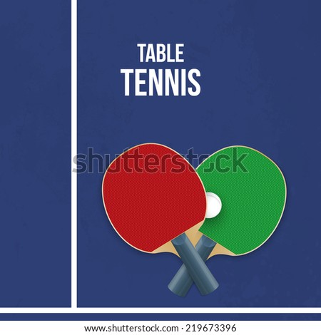 Two rackets for playing table tennis.  illustration