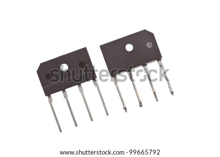 Two rectifiers in a big housing, one from the front and one from the back - stock photo