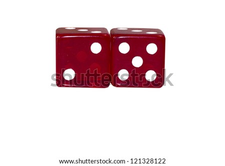 Two Red Dice Isolated