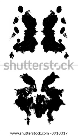 two Rorschach tests, real painting