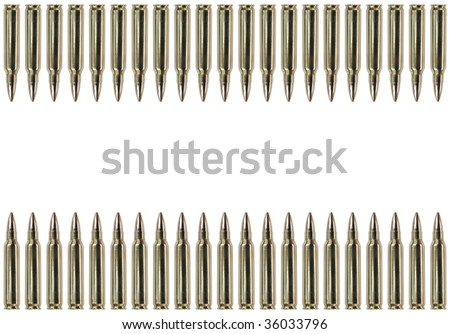 Two rows of bullets