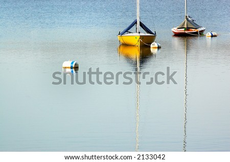 Two sail boats on Lake Calhoun. More with keyword group18