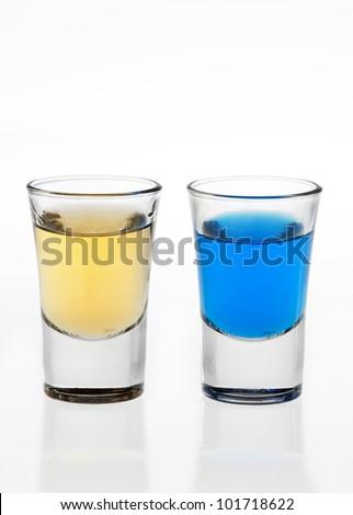Two shot glasses - stock photo