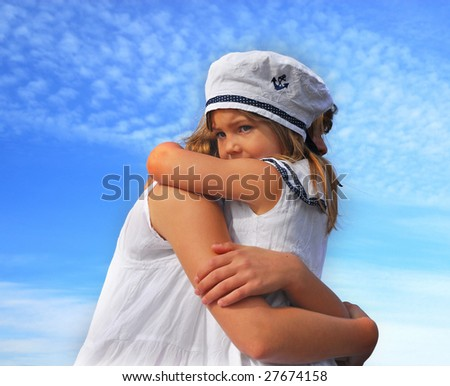 Two sisters hugging each other