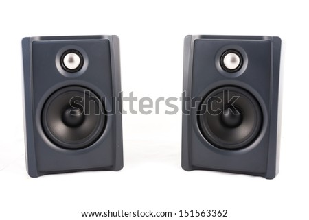 two speaker in isolated