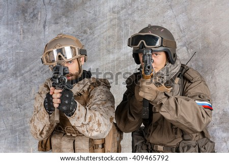 Two special force soldiers
