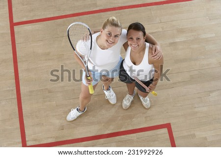 Two Squash Players - stock photo