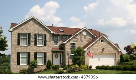 Two Story Colonial Style Home - stock photo