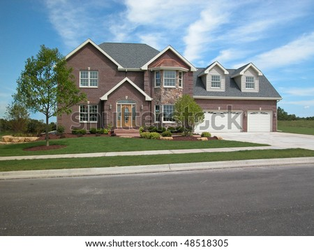 Two story home - stock photo