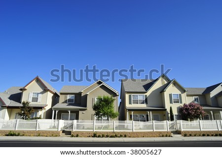 Two-story low income single family residential development in a dense urban area