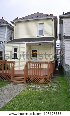 two story single family home - stock photo