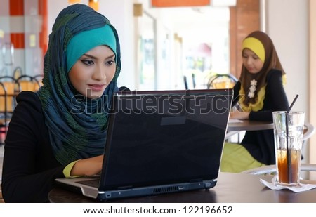 Two Student at the Cafe - stock photo