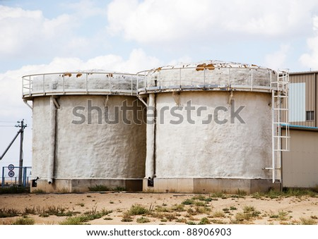 two tanks - stock photo