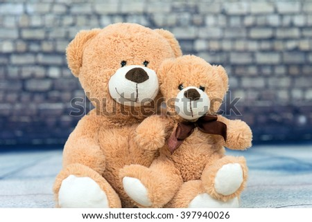 two teddy bear friends / Friends - stock photo
