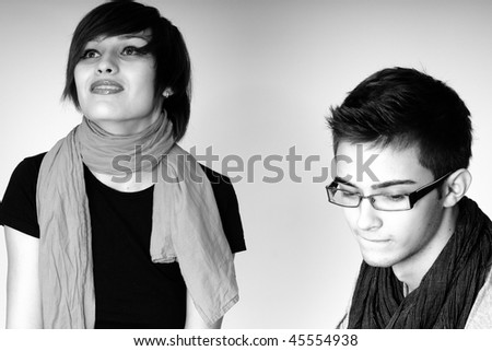 two teens - stock photo