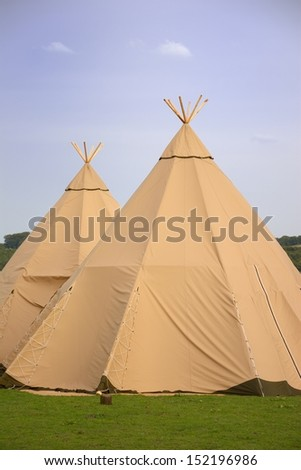 Two Tepees - stock photo